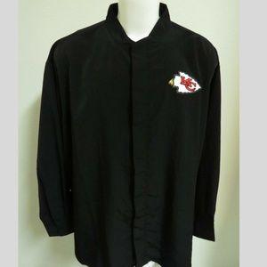 New Sz M Black Mens Long Sleeve db Poly #56B Shirt
